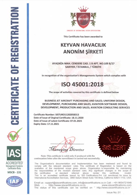 Keyvan ISO 45001